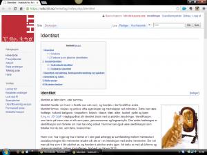 En artikkelside i wikien laget til emnet Samfunnsvitenskap 1 for sykepleierstudenter.